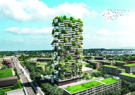 Green Building, Residential Tower of the Cedars Covered in