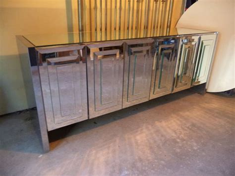 Mirror Credenza by Mirrored Credenza By Ello At 1stdibs