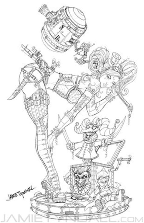 Steampunk Harley Quinn Coloring page   Coloring Is For