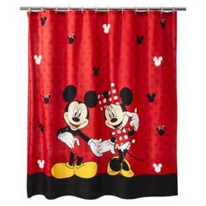 disney 174 mickey minnie shower curtain shower curtains
