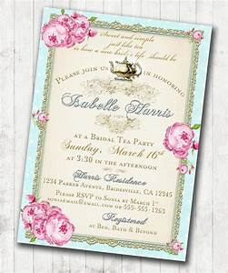 Tea Party Bridal Shower Tea Party Invitation - Floral ...