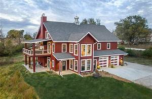 a lifetime love of barns inspires a new custom home With barn builders iowa