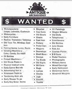 """PHOTO American Pickers' Antique Archaeology """"Wanted"""" flyer"""