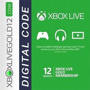 Xbox Live Gold 12 Month Digital Code GLOBAL