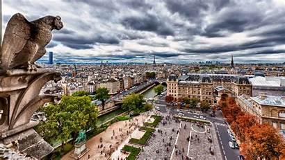 Paris Street Building Notre Dame France Backgrounds