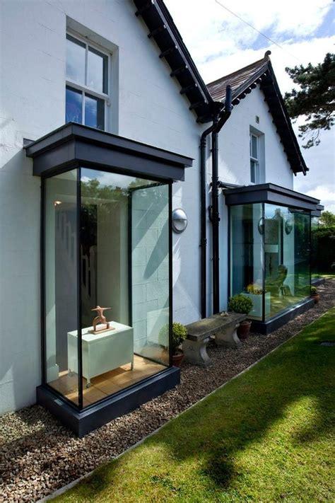 modern bay windows landscape contemporary  deck steel