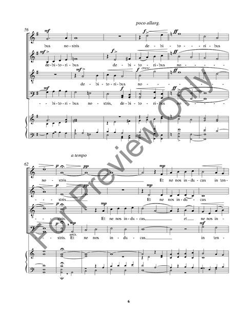 pater noster satb by f cavallaro j w pepper sheet