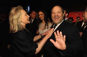 Image result for images of hillary with weinstein
