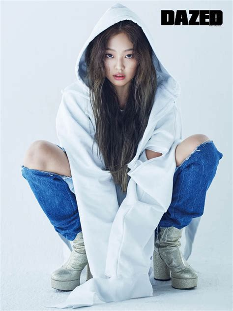 black pink jennie dazed confused magazine april