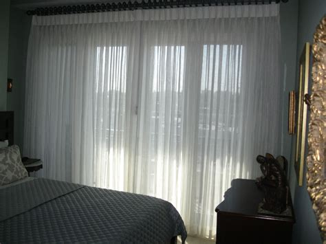 Traverse Rod Curtains Sheer by Window Treatments Maison D Or Interior Design Services