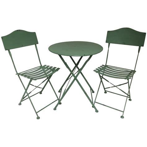 table et chaise de salon salon table chaise jardin bistrot fer métal pliable