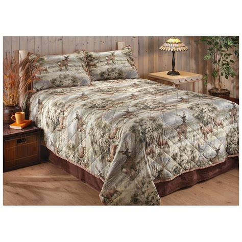 Quilt And Sham Set by Castlecreek Mule Deer Quilt And Sham Set 614448 Quilts