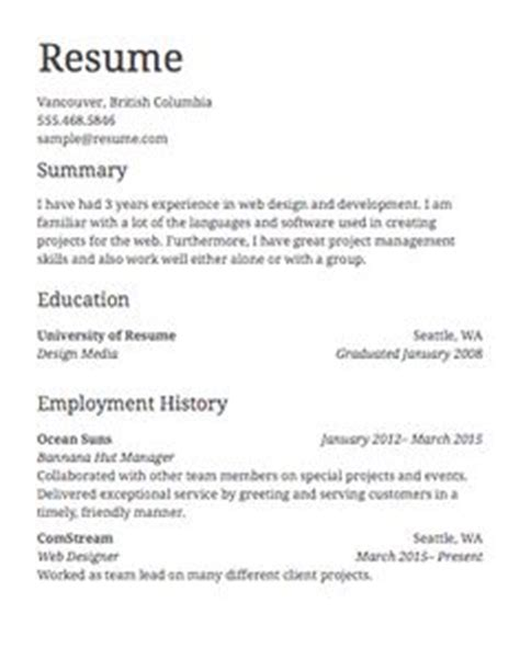 How To Make A Resume For A Stay At Home Transitioning Back To Work by A Stay At Home Resume Sle For Parents With Only A Previous Work Experience Free