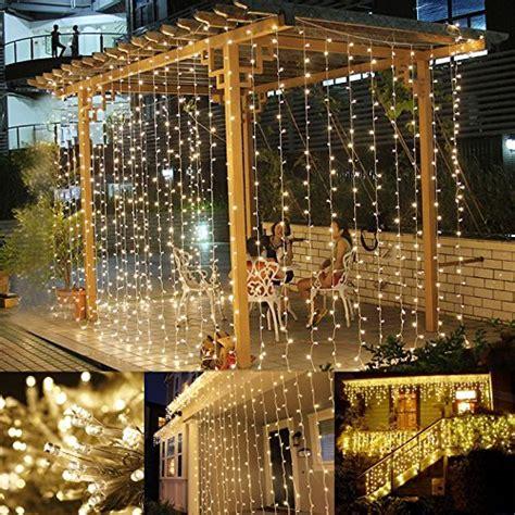 rideau led pas cher le 3m 6m 594 leds rideau lumineux 8 modes guirlande lumineuse blanc chaud 3000k d 233 coration