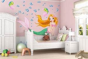 Wandtattoo Baby Mädchen : wandtattoo baby meerjungfrauen vdi1148de ~ Buech-reservation.com Haus und Dekorationen