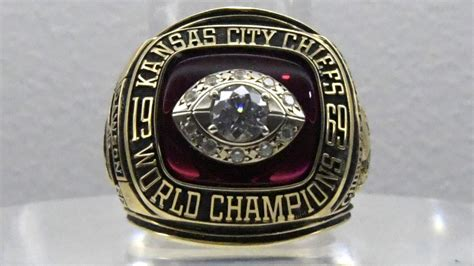super bowl iv ring chiefs wire