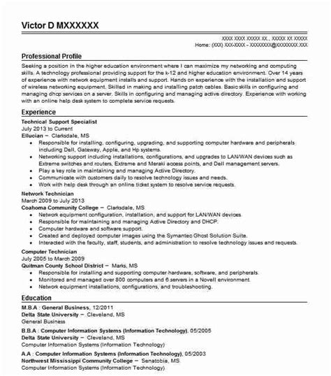 Resume Technical Support by Technical Support Specialist Objectives Resume Objective