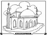 Mosque Coloring Printable Pages Template Sketch Templates sketch template