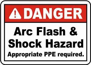 danger arc flash shock hazard label j5524 by With arc flash hazard sticker