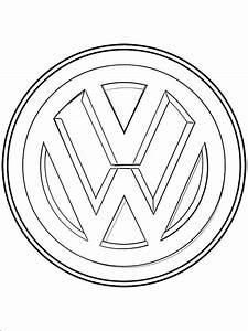 dibujo de logo volkswagen para pintar dibujos para colorear
