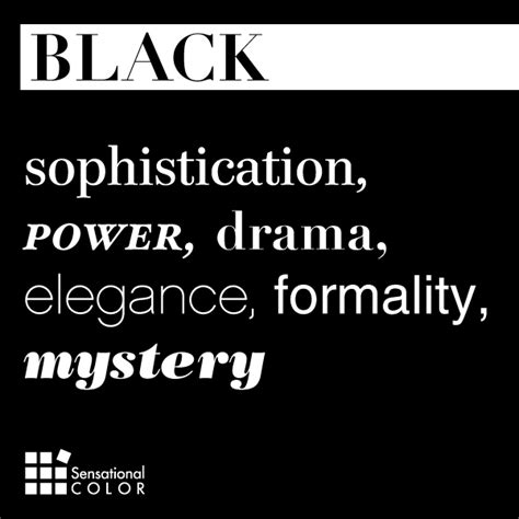 black meaning free color messages meanings graphics words that describe black sensational color