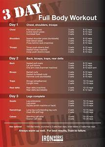 3 Day Full Body Workout Routine