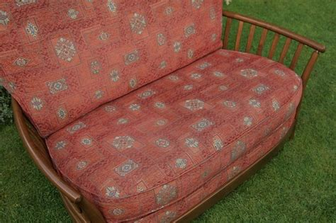 Ercol Settee Second by Ercol Renaissance Ash Golden Armchair Settee Sofa For