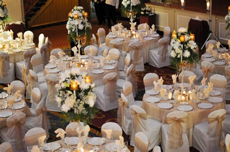 wedding main table decor love the gold sashes metallic wedding pinterest