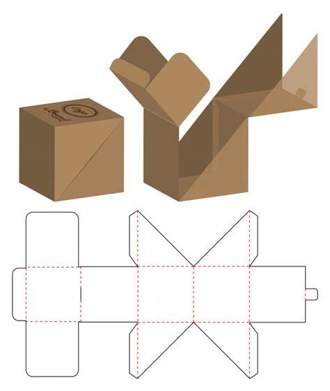 box packaging die cut template design vector premium