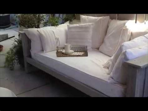 outdoor daybed handmade  pallets reclaimed wood