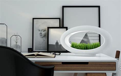 le de bureau design led le de table sans fil à led avec mini jardin la grassl
