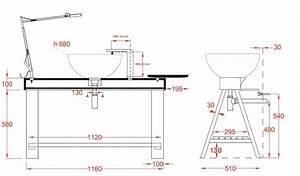 hauteur plan vasque sdb obasinccom With hauteur meuble salle de bain avec vasque à poser