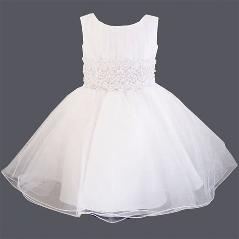 robe de bapteme fille robe de bapt 234 me en tulle blanc dentelle perles chlo 233 gt babystock