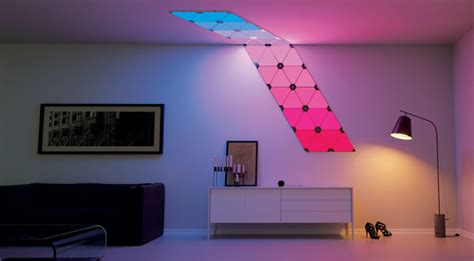 add a splash of living paint to your walls with nanoleaf s light panels wall