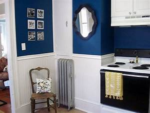 flickr find antique mirror in navy blue kitchen navy With kitchen colors with white cabinets with projector wall art