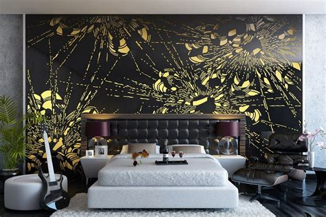 bedroom decorating ideas flowers wall mural interior design