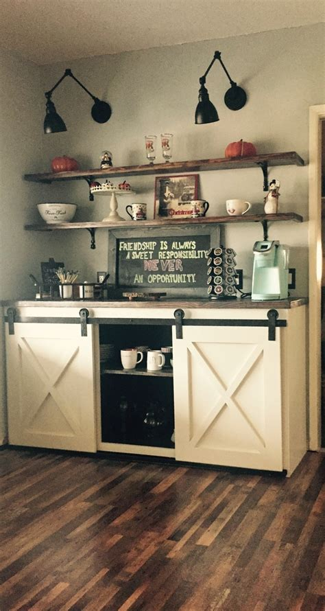 Coffee Bar Furniture by White Coffee Bar Diy Projects