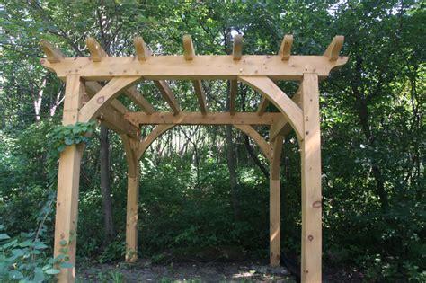 timber frame pergola