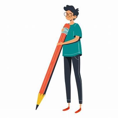 Boy Character Pencil Transparent Svg