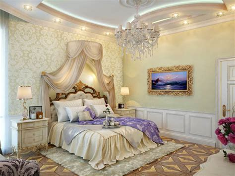 wallpaper dinding kamar tidur  berkesan romantis  mewah