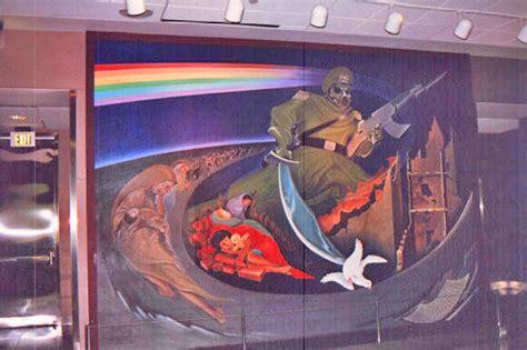 details of murals in new denver airport
