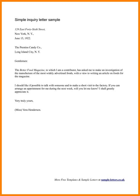 exle of simple business letter letters free sle