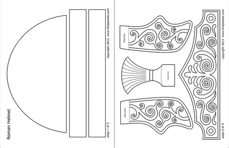 roman imperial helmet templates  printable templates coloring pages firstpalettecom