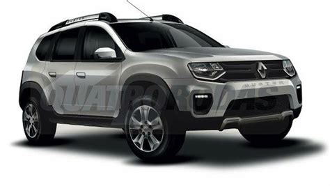 renault duster 2017 black next gen 2017 renault duster with 7 seats rendered