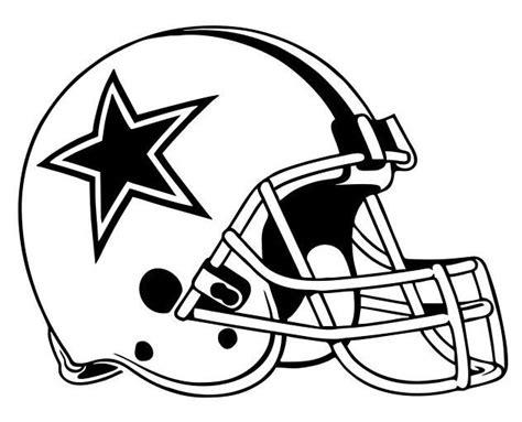 Dallas Cowboys Football Helmet Drawing