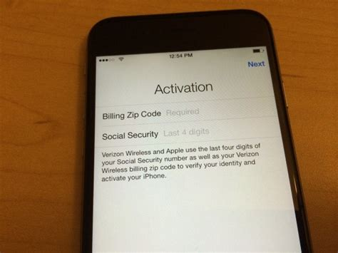 to activate iphone with verizon at t iphone 5 5c 5s 6 6 7 7 plus 6s 6s zip code ssn