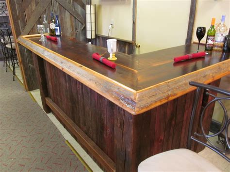Wooden Home Bar by Reclaimed Wood Bar Made From Barn Wood Bars In 2019