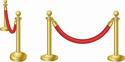 Velvet Rope Clip Ropes Illustrations Carpet Vector