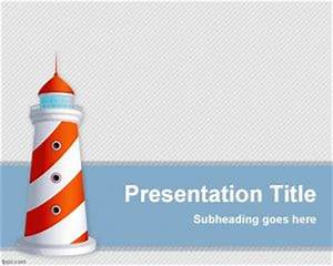 Ms Office Presentation Templates Free Lighthouse Powerpoint Template