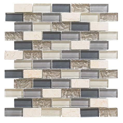 Jeffrey Court Mosaic Tile Home Depot by Cedar Cove 12 In X 12 In X 8 Mm Glass Travertine Mosaic